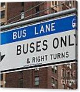 Buses Only I Acrylic Print