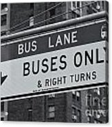 Buses Only II Acrylic Print