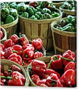 Bushels Of Green And Red Acrylic Print