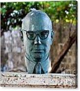 Bust Of Carlos Lleras Restrepo In Cartagena De Indias Colombia Acrylic Print