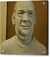 Bust Sculpture Acrylic Print by Terri  Meyer
