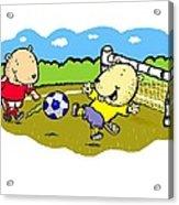 Busy Beaver Soccer Acrylic Print
