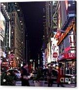 Busy Sidewalks Of The City Acrylic Print