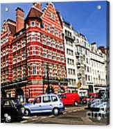 Busy Street Corner In London Acrylic Print