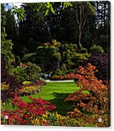 Butchart Gardens - Sunken Garden Acrylic Print by Matt Dobson