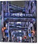 Butlers Wharf London Hdr Acrylic Print