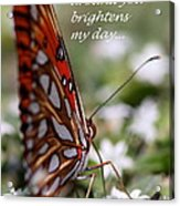 Butterfly Friendship Card Acrylic Print