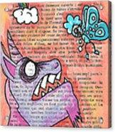 Butterfly Vs Unicorn Acrylic Print