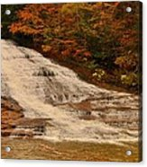 Buttermilk Falls Sate Park New York  Acrylic Print by Puzzles Shum
