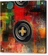 Button To The Top Acrylic Print by Fania Simon