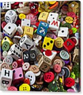 Buttons And Dice Acrylic Print
