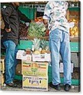 Buying Fruit Acrylic Print