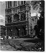 Vintage France Paris Notre Dame Cathedral 1970 Acrylic Print