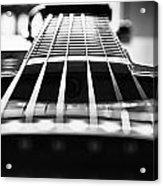 Bw Guitar Acrylic Print