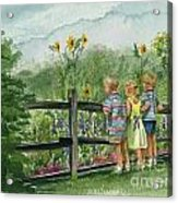 By The Garden Fence  Acrylic Print