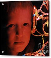 By The Glow Of Christmas Lights Acrylic Print