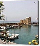 Byblos Waterfront Acrylic Print by Tia Anderson-Esguerra