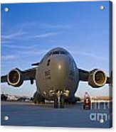 C-17 At Sunset Acrylic Print