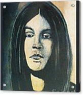 C. J. Ramone The Ramones Portrait Acrylic Print by Kristi L Randall