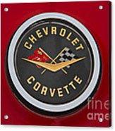 C1 Corvette Emblem Acrylic Print