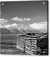 Cabin And The Grand Tetons Acrylic Print