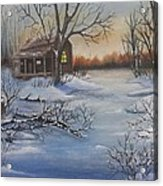 Cabin in the Country Acrylic Print