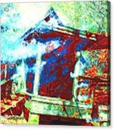 Cabin In The Fog Acrylic Print
