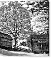 Cabin Under Buttermilk Skies I Acrylic Print by Dan Carmichael
