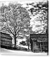 Cabin Under Buttermilk Skies Vignette Acrylic Print
