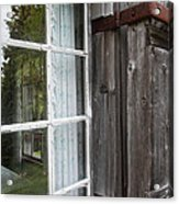 Cabin Window Acrylic Print