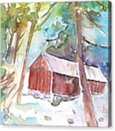 Cabine In The Troodos Mountains Acrylic Print