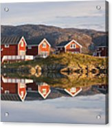 Cabins At Sommaroy, Tromso, Norway Acrylic Print by David Clapp