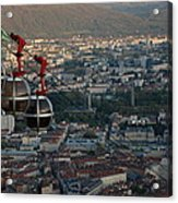 Cable Car In Grenoble  Acrylic Print