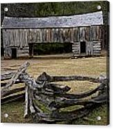 Cable Mill Barn In Cade's Cove No.122 Acrylic Print