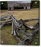 Cable Mill Barn In Cade's Cove No.123 Acrylic Print