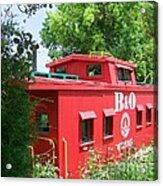 Caboose In The Trees Acrylic Print