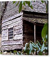 Cades Cove Cabin Acrylic Print by Jim Finch