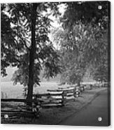 Cades Cove Tennessee In Black And White Acrylic Print