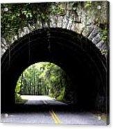 Cades Cove Tunnel Acrylic Print