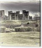 Caerphilly Castle Cream Acrylic Print