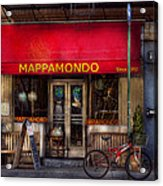 Cafe - Ny - Chelsea - Mappamondo  Acrylic Print by Mike Savad