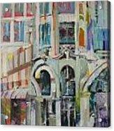 Cafe In Paris Acrylic Print by Carol Mangano