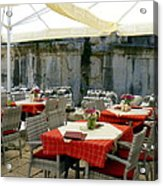 Cafe In Split Old Town Acrylic Print