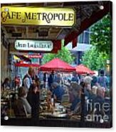 Cafe Metropole Acrylic Print by Andrea Simon
