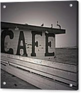 Cafe On The Pier Acrylic Print