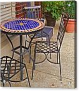 Cafe Table Acrylic Print