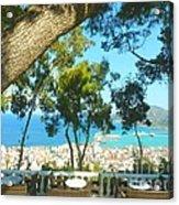 Cafe Terrace At Bohali Overlooking Zante Town Acrylic Print
