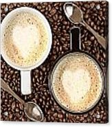 Caffe Latte For Two Acrylic Print by Gert Lavsen