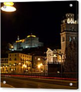 Calahorra Cathedral At Night Acrylic Print