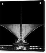 Calatrava Dusk - B And W Acrylic Print